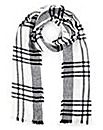 Lipsy White and Black Check Scarf