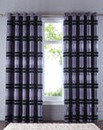 Alessia Chenille Stripe Lined Curtains