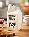 Personalised Ceramic Milk Carton