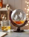 World Globe Battle Of Britain Decanter