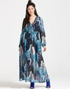 Girls On Film Blue Print Maxi Dress