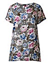 Alice And You Floral High Low Hem Top
