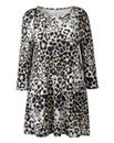 AX Paris Grey Leopard Print Swing Dress