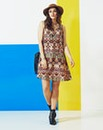 Simply Be Tribal Print Swing Dress