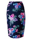 AX Paris Navy Floral Pencil Skirt