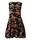 AX Paris Dark Floral Skater Dress
