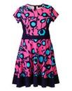 AX Paris Pink Blue Skater Dress