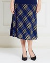 Pull On Check Skirt