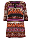 Samya Aztec Print Tunic Dress