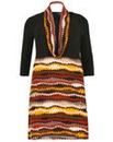 Samya Long Sleeve Multi Coloured Dress
