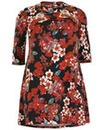 Samya Floral Cowl Neck Dress
