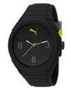 Puma Gents Lifestyle Black Silicon Watch