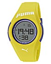 Puma Yellow Silicon Strap Watch