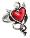 Alchemy Gothic Red Heart Ring