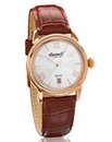 Ingersoll Rose-tone Brown Strap Watch