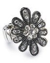Sparkly Stretch Flower Ring
