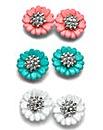 Set of 3 Flower Earrings