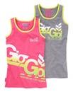 Gio Goi Girls Pack of 2 Vest Tops