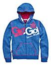 Gio Goi Girls Zip Front Hoodie