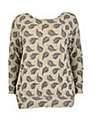 Samya Feather Print Top