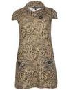 Samya Aztec Print Button Detail Dress