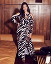 Anna Scholz Animal Print Maxi Dress