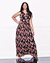 Lovedrobe Pleat Floral Maxi Dress