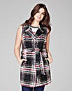 Sleeveless Check Jacket