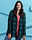 Green Check Duffle Coat Length 28ins
