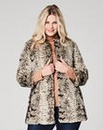 Snake Print Faux Fur Coat