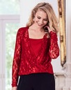 Joanna Hope Lace Wrap Top