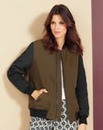 Khaki/Black Padded Bomber Jacket