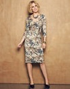 Nightingales Printed Wrap Dress
