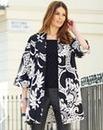 Nightingales Jacquard Kimono Jacket