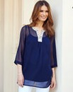 Nightingales Beaded Georgette Blouse