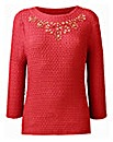 Nightingales Textured Jersey Top