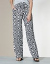 Print Wide Leg Jersey Trousers X Short