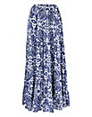 Crinkle Tiered Maxi Skirt