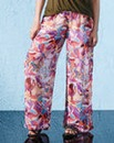 Woven Print Trousers Long