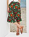Floral Print Crinkle Culottes