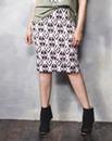 Geo Print Scuba Pencil Skirt