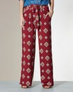 Printed Wide Leg Jersey Trousers - Reg