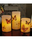 LED Candles Butterfly Set of 3