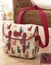 Tapestry Cat Messenger Bag