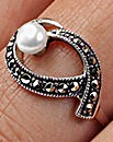 Marcasite and Pearl Ring