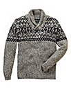 Jacamo Denver Shawl Neck Jumper