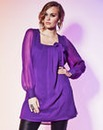 Grazia Bow Neck Tunic Top