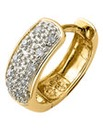 9ct Gold Gents Diamond-Set Hoop Earring