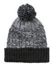 Label J Striped Bobble Beanie