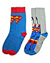 Superman Pack of Two Socks